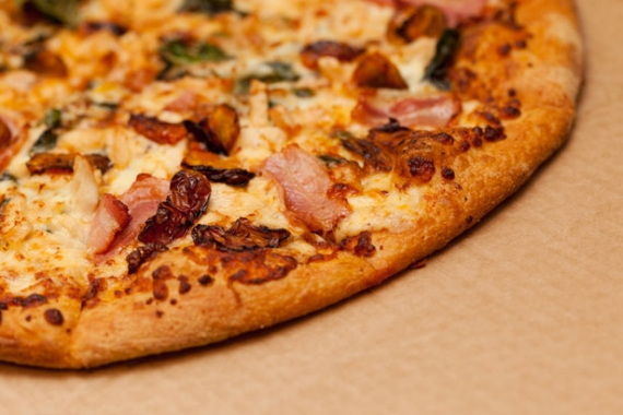 Mushroom and Speck Pizza